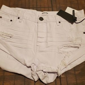 One Teaspoon White Bandits relaxed fit size 30